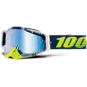 100% Racecraft Anti Fog Mirror Goggles gul/grå